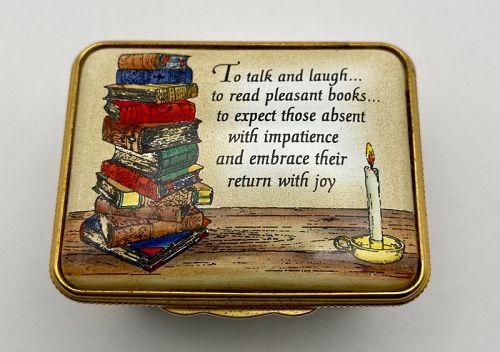 Halcyon Days Books Definition of Friendship Enamel on Metal Box