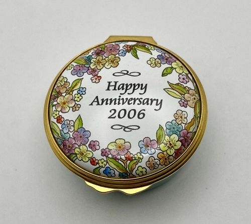 Halcyon Days 2006 Anniversary Enamel on Metal Box