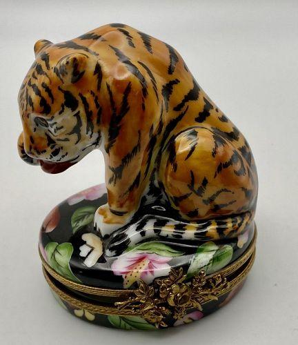 Limoges Tall Tiger Box