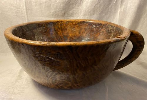 Large Antique Wood Bowl