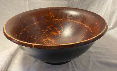 Old Wood Bowl Made from 7 Pieces with Butterfly Joints