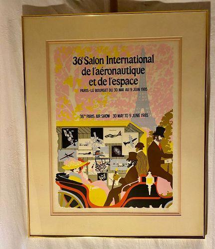 1985 Serigraph Paris Air Show Serigraph by Carl Frederick Critz (1912