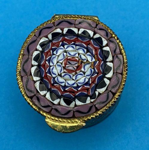 1960's Italian Vatican Micro Mosaic Pill Box