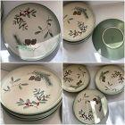 Six Pfaltzgraff Winterwood Canvas Tan Dinner Plates