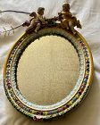 Signed Meissen Table Mirror Damaged