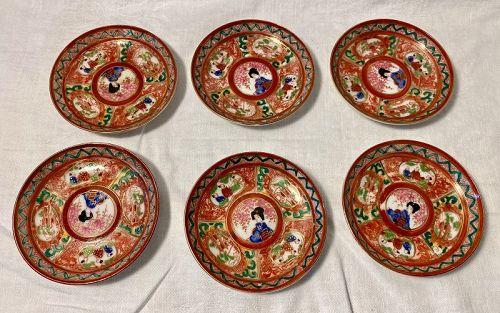 Set of Six Japanese Imari  Dishes Japanese Antiques
