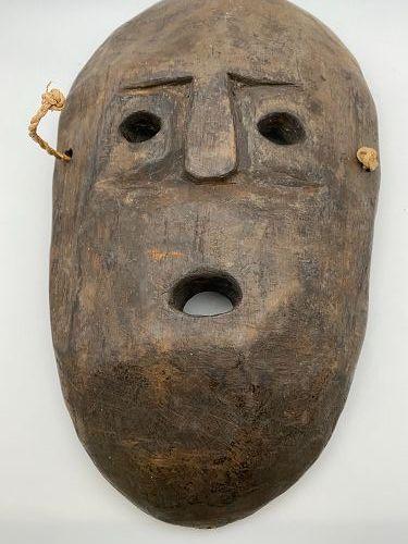Ethnographica Alaskan Folk Art Carved Wood Native Inuit Eskimo Mask