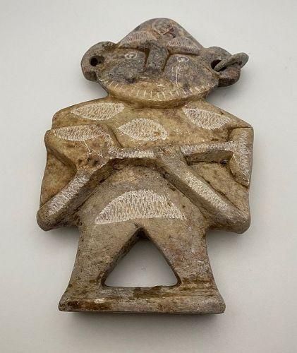 Mayan Rock Statue of a Man