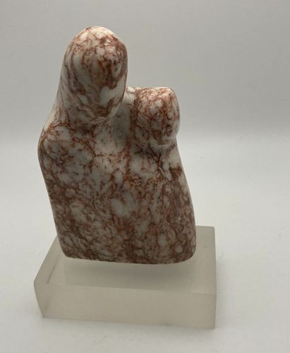 Small Modernist Marble Sculpture 5' Madonna Child