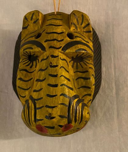Ethnographica Cultural Indigenous Folk Art Tiger Mask