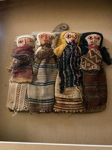 Ethnographica Quilts Linens VIntage Chancay Burial Dolls Peru