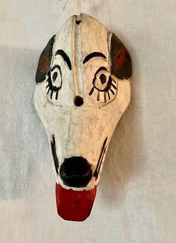 Ethnographica Cultural Indigenous Folk Art Dog Hyena  Mask