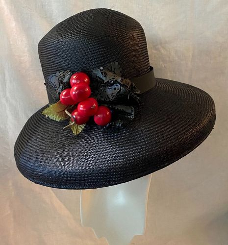 Louise Green Hat Vintage Clothing Couture Fashion  Clothing Design