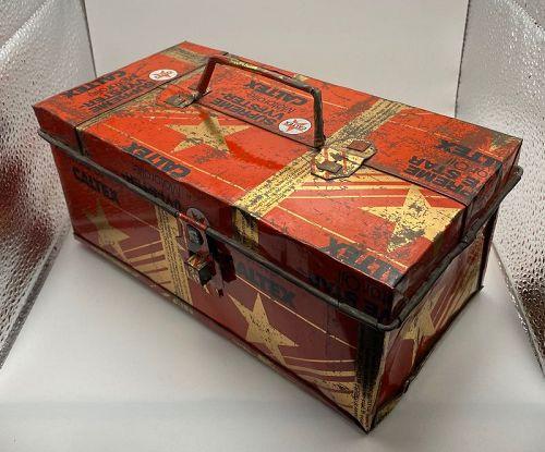 Advertising Outsider Tramp Folk Art Box Motor Oil Transportation