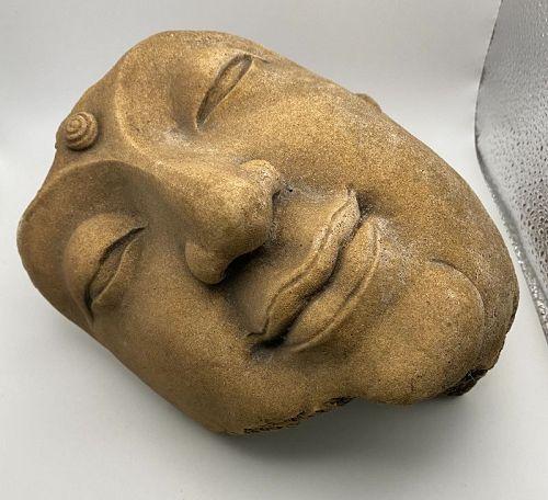 Stucco Buddha Head Remnant Fragment Stucco