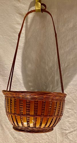 Ethnografic Cultural Indigenous Hand Made Japanese Basket