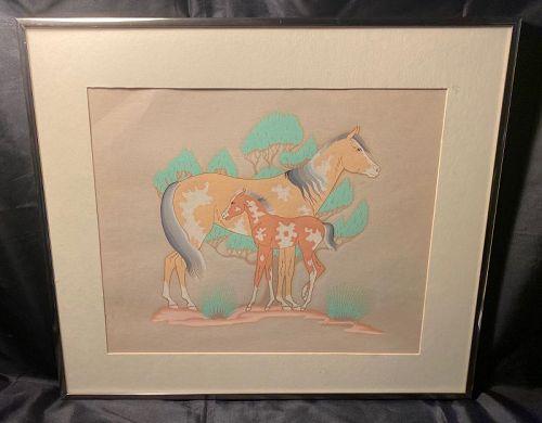 Harrison Begay (1917-2012) Signed Original Silkscreen Print