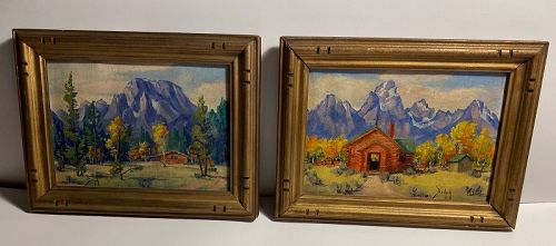 American Pastoral Wyoming Oil Paintings Marie Dorothy Dolph  1884-1979
