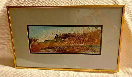 American Pastoral Watercolor Dan Looney Idaho