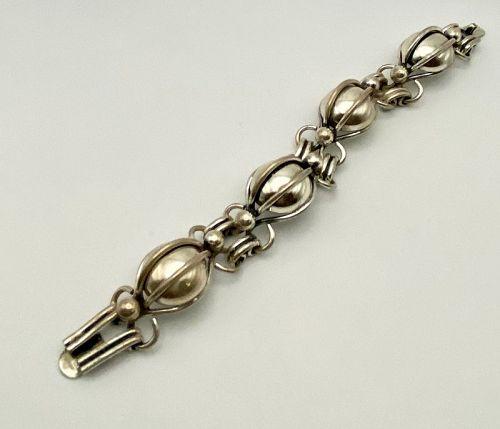 Napier Sterling 925 Mid Century Link Bracelet