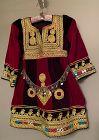 Vintage Afghan Child's Tribal Velvet Dress Berber