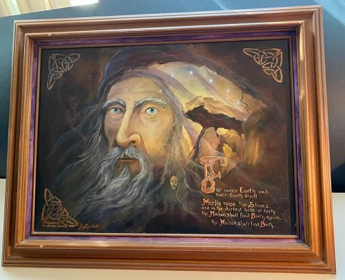 Georgia Lambert ( World Renown Spiritual Teacher)Oil Painting  Merlin
