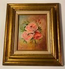 Roses Painting Signed D.Wagner (Dawn Wagner)