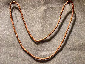 Anasazi Red Clay Bead Necklace, ca. 1250 ad.