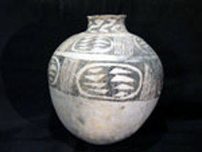 Anasazi Room Size Large Walnut Creek Black On White Olla