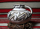 Anasazi / Pinedale Black (Glazed) on White Pitcher