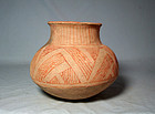 Hohokam / Soho red on buff shoulder olla ca. 1250 ad