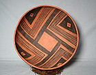 "Beautiful Anasazi / Pinto black on red bowl ca 1280 ad ""MINT"""