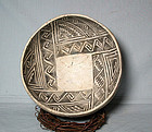 Anasazi / Walnut b/w bowl ca. 1100 to 1250 ad. No Restoration