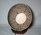 Anasazi / Sosi b/w bowl ca. 1070 to 1180 ad. No Restoration
