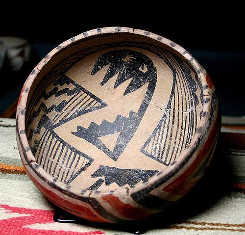 Anasazi / Tonto Salado Poly-chrome bowl ca. 1340 ad.
