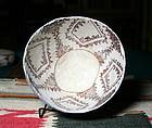 Anasazi / Kiatuthlanna black on white bowl ca. 800 ad.