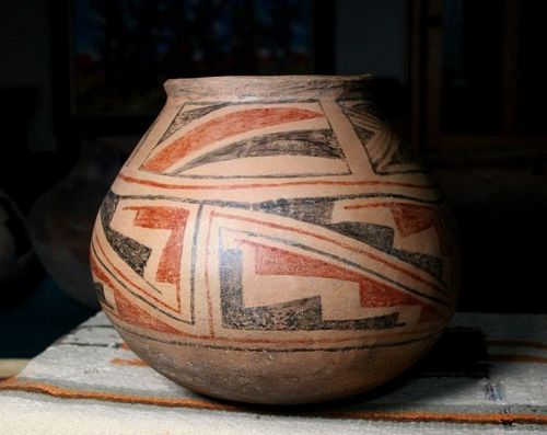 Casas Grandes polychrome room olla(large) ca. 1250 ad.