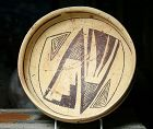 Anasazi / Jeditto black on yellow bowl ca. 1400 ad