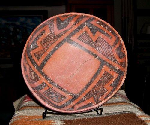 Anasazi / Cedar Creek large black on red bowl ca. 1300 ad.