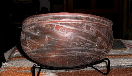 "Salado / Tucson polychrome bowl ca. 1275 ad. ""INTACT"" no restoration"