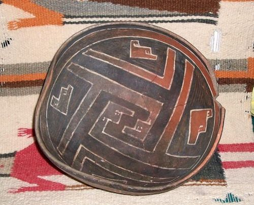 Anasazi / Cedar Creek large polychrome bowl ca. 1300 ad.