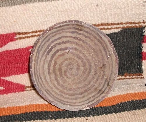 "Hohokam red on buff bowl ca 1250 ad., ""NO RESTORATION"""