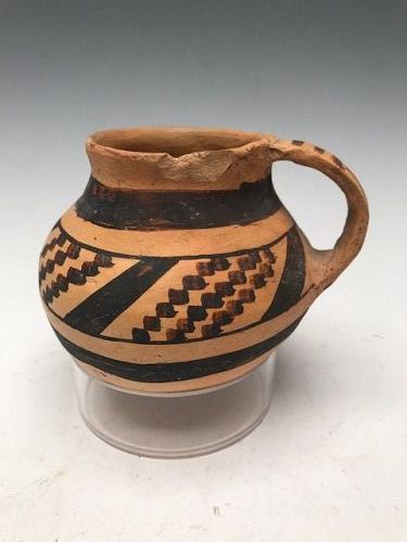 Anasazi / Homolovi black on yellow cup ca. 1350 ad. NO RESTORATION