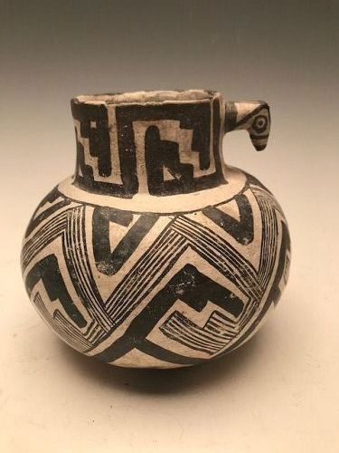 Anasazi / Reserve animal head pitcher ca 1200 to 1300 ad.