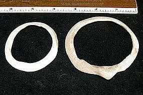 Hohokam Frog Head Shell Bracelets
