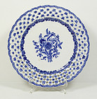 Chinese Export Reticulated Plate #2, Qianlong, 18thC.