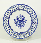 Chinese Export Reticulated Plate #1, Qianlong, 18thC.