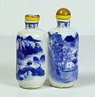 Chinese porcelain snuff bottle, 19th century.