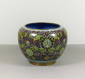 Chinese Cloisonne Enamel Jardiniere, 19th Century.