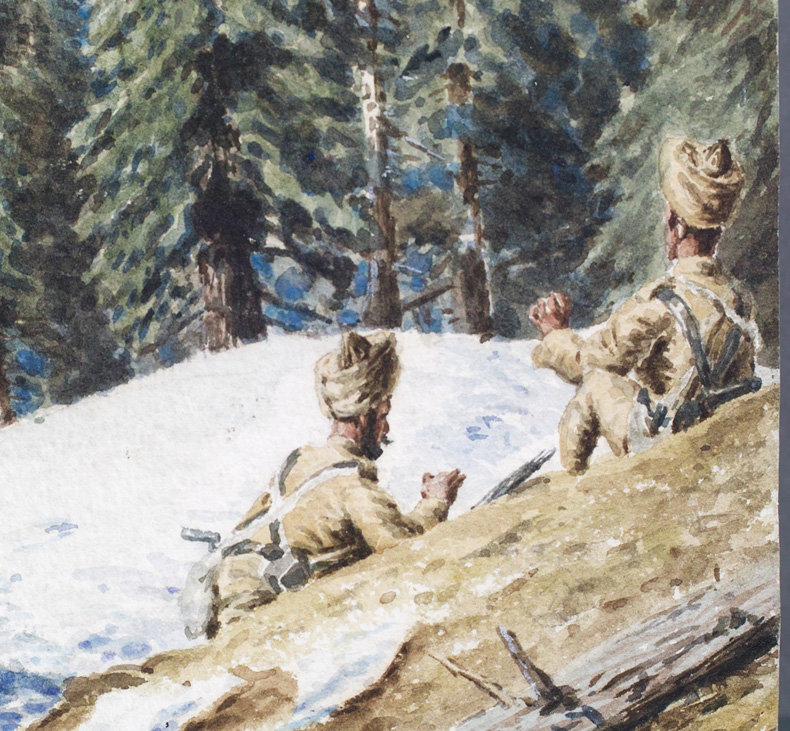 Chitral Watercolour, by Serving Officer, 1895
